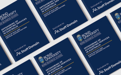 Bond University's Study 'Offshoring of Accounting Services in Australia' now live